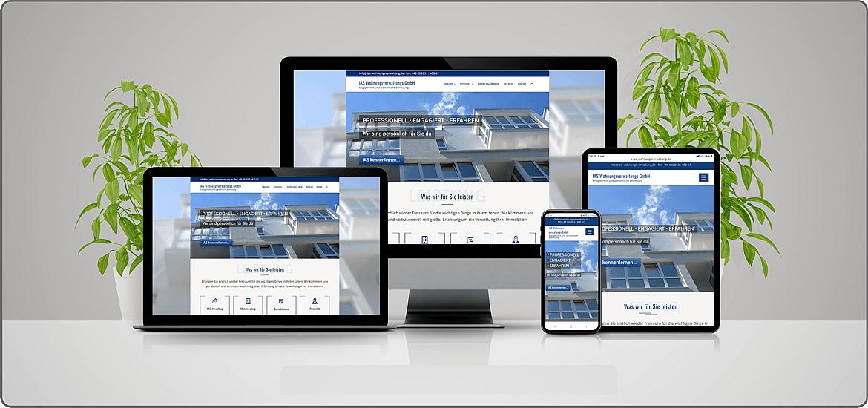 Webprojektübersicht von appareas webdesign